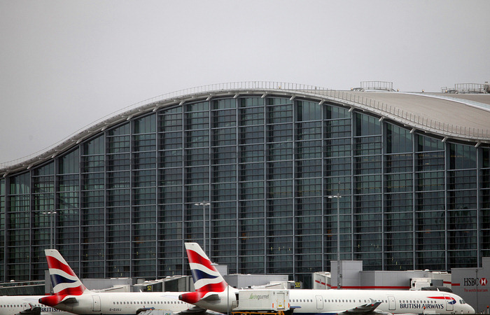 British Airways - Aeronaves en la Terminal 5 de Heathrow
