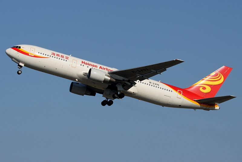 Boeing 767-300ER de Hainan Airlines. Foto: ChrisW/Wikimedia Commons