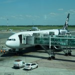 Air New Zealand 777-300 in Ezeiza